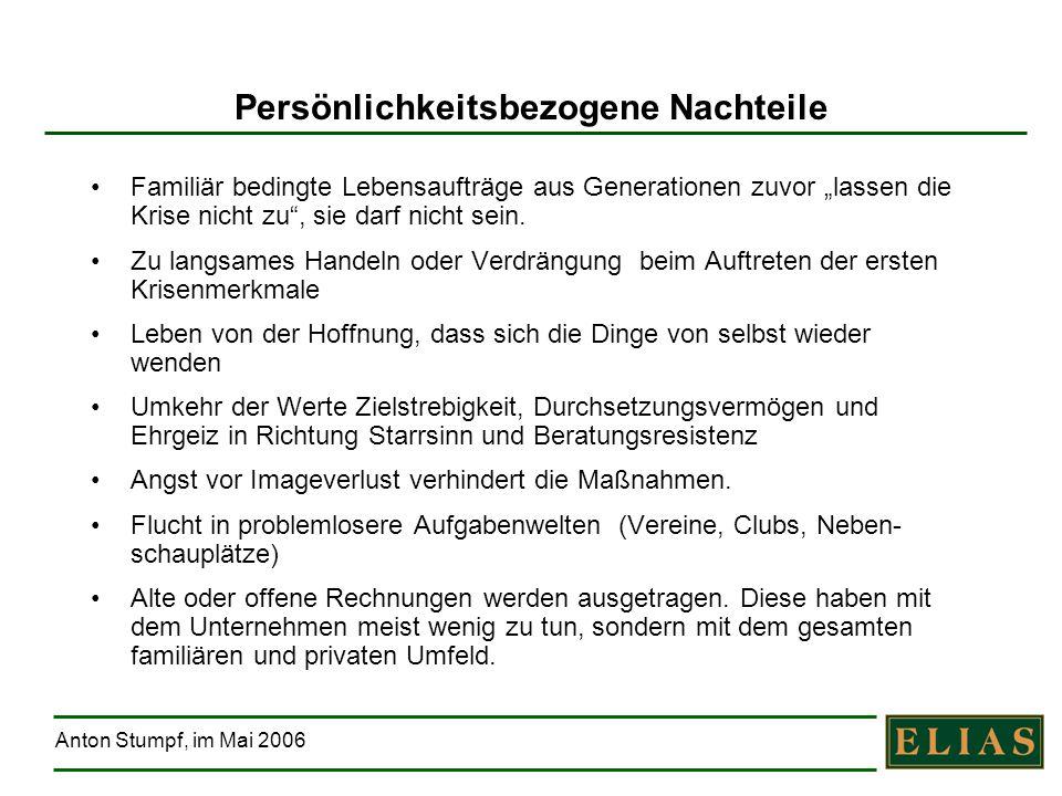 Anton Stumpf, im Mai 2006 Restrukturierung braucht Klarheit über Ziel und Weg 1.