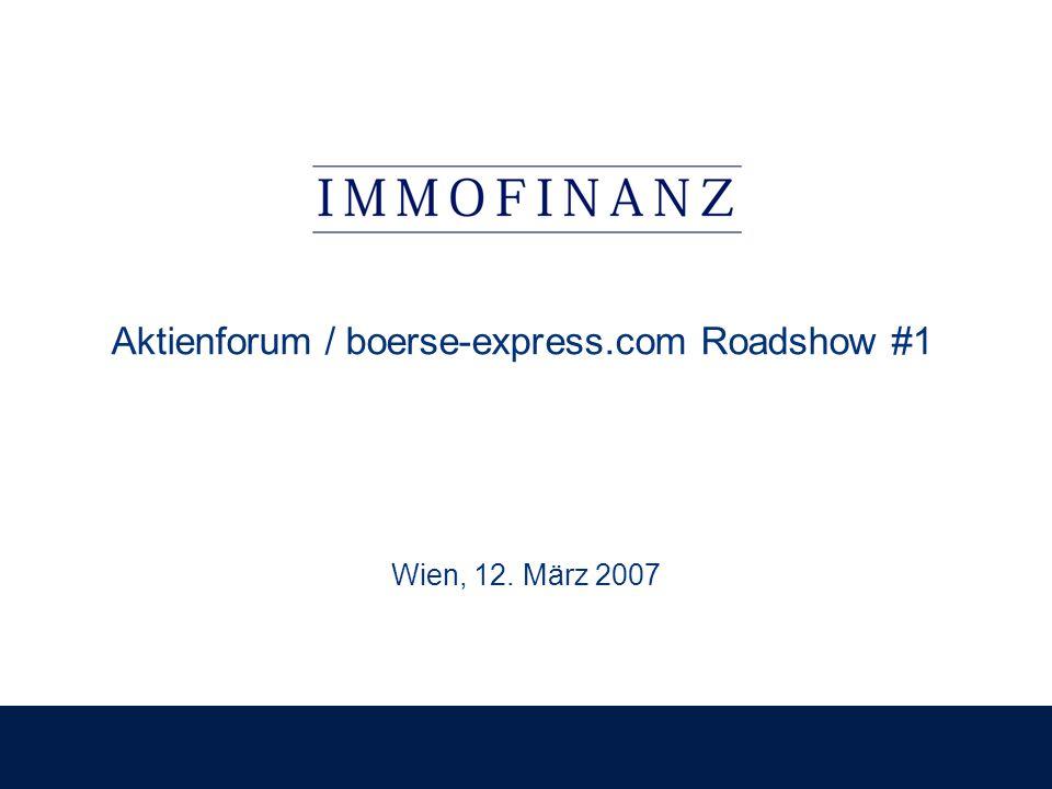 Aktienforum / boerse-express.com Roadshow #1 Wien, 12. März 2007