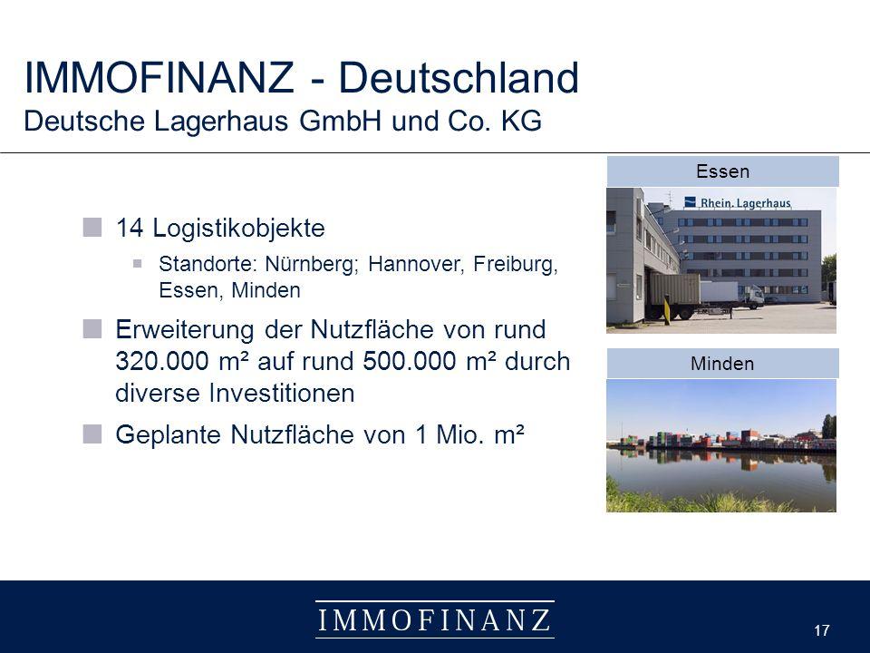 17 IMMOFINANZ - Deutschland Deutsche Lagerhaus GmbH und Co.
