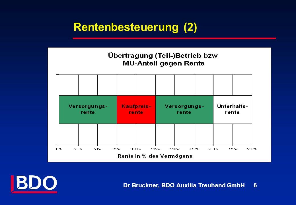 Dr Bruckner, BDO Auxilia Treuhand GmbH 6 Rentenbesteuerung (2)