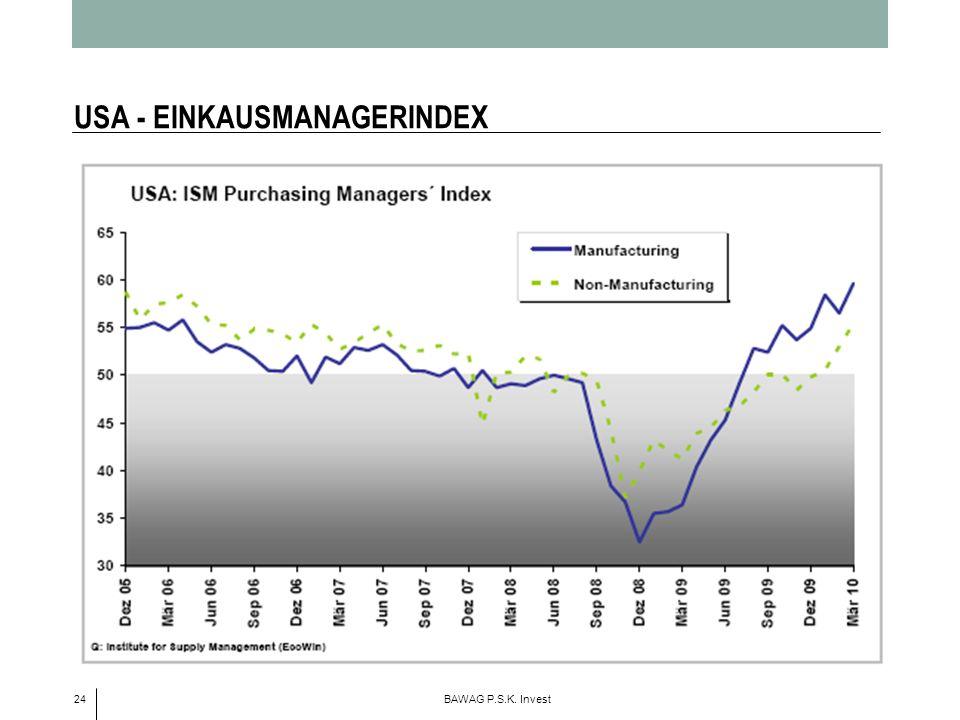 24 BAWAG P.S.K. Invest USA - EINKAUSMANAGERINDEX