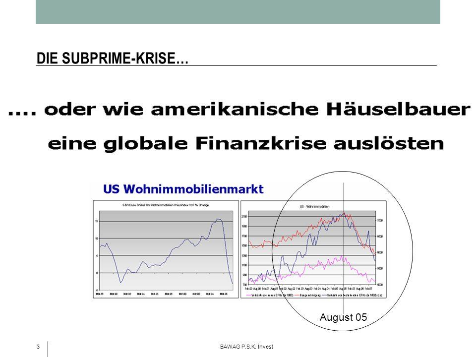 3 BAWAG P.S.K. Invest DIE SUBPRIME-KRISE… August 05
