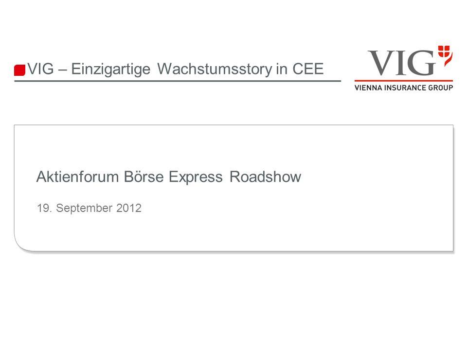 12 CEE wächst auch zukünftig stärker als Westeuropa 12 Wirtschaft in CEE wächst doppelt so schnell wie EU-15 CAGR 2001-2011 3,0% BIP pro Kopf (real, kaufkraftbereinigt) CAGR 2001-2011 6,1% Quelle: International Monetary Fund, World Economic Outlook Database, April 2012 (2012 – 2017 Schätzungen) CEE = VIG Märkte ohne Österreich, Italien, Liechtenstein und Deutschland Potenzial CEEEU 15