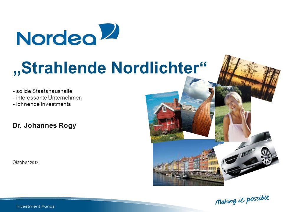 Nur für professionelle Investoren Nordea 1 – Swedish Bond Fund Alloktation und Rating Aufteilung nach Anlageklasse in % Staatsanleihen70.64 Hypothekenanleihen17.57 Unternehmensanleihen10.45 Quelle: Nordea Investment Funds S.A., Stand: 31.08.2012 Aufteilung nach Rating in % Aaa88.21 AA5.21 A5.24 Quelle: Nordea Investment Funds S.A., Stand: 31.08.2012