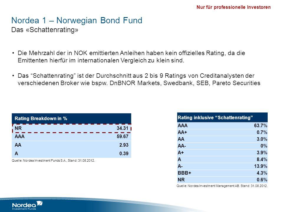 Nur für professionelle Investoren Die Mehrzahl der in NOK emittierten Anleihen haben kein offizielles Rating, da die Emittenten hierfür im internation