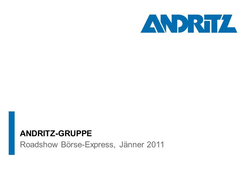Roadshow Börse-Express, Jänner 2011 ANDRITZ-GRUPPE