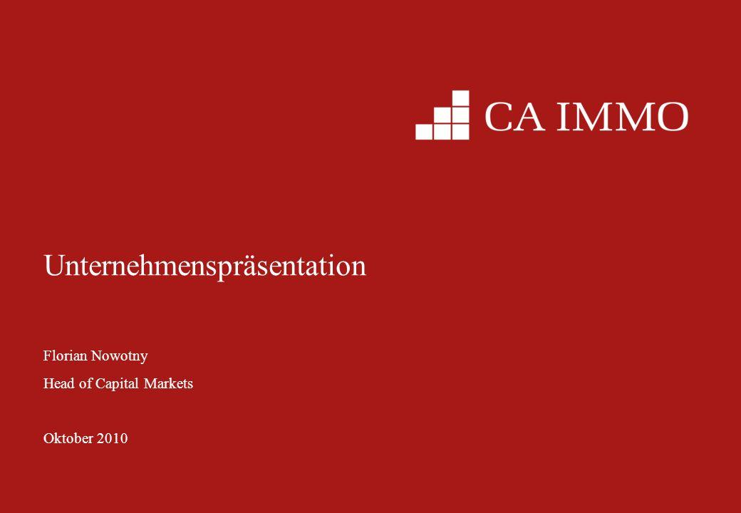2 Überblick über die CA Immo Gruppe VIVICO Deutschland Struktur Anfang 2010 Österreich CEE / SEE / CIS ~62% Regionale Portfoliozusammensetzung ( Mio) Osteuropa Anteil wird durch Europolis von 20% auf 42 % steigen Deutschland Anteil ~42 % Österreich ~16 % Weiterhin Fokus auf gewerbliche Immobilien, insbesondere Büros CEE/SEE/CIS + Deutschland Österreich CEE/SEE CEE / SEE / CISDeutschlandÖsterreich Struktur ab Anfang 2011 Re-Integration der CA Immo International Kauf der Europolis AG Privatanleger ~50%Institutionelle ~40%Bank Austria ~10% Marktkapitalisierung: 920 Mio Kursperformance seit 1.1.2010: +35 %