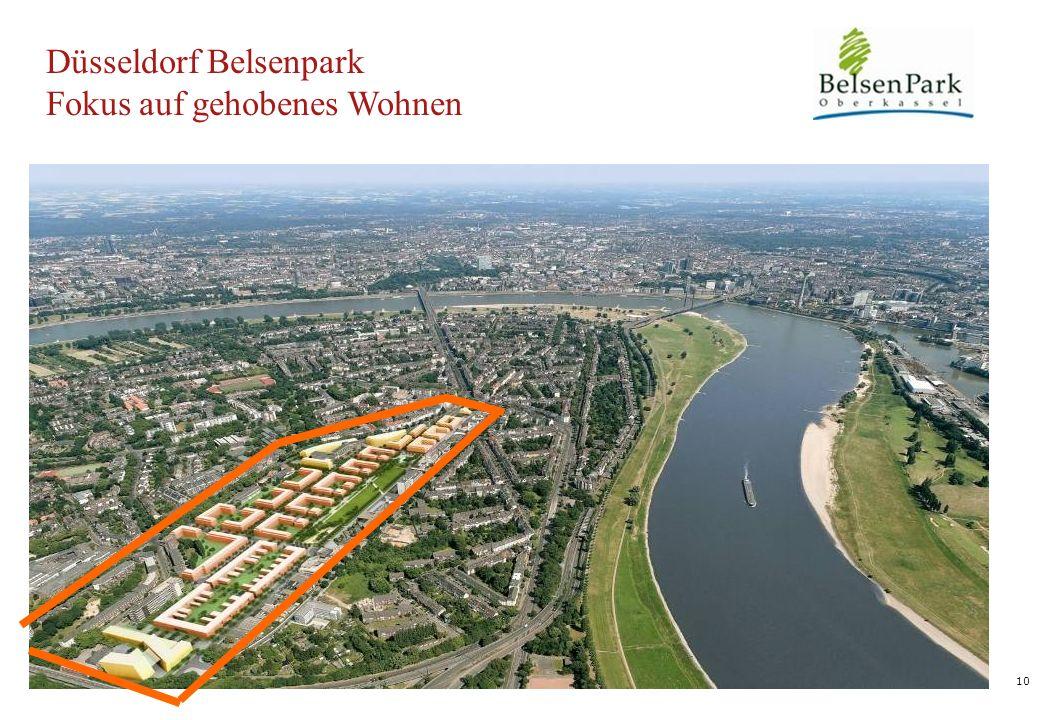10 Düsseldorf Belsenpark Fokus auf gehobenes Wohnen