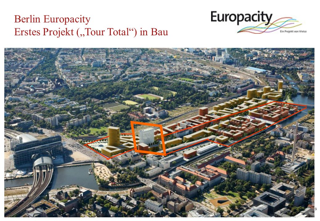 9 Berlin Europacity Erstes Projekt (Tour Total) in Bau
