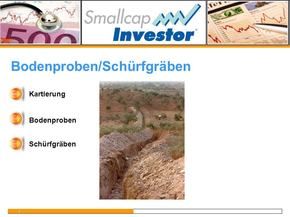 Bodenproben/Schürfgräben Kartierung Bodenproben Schürfgräben