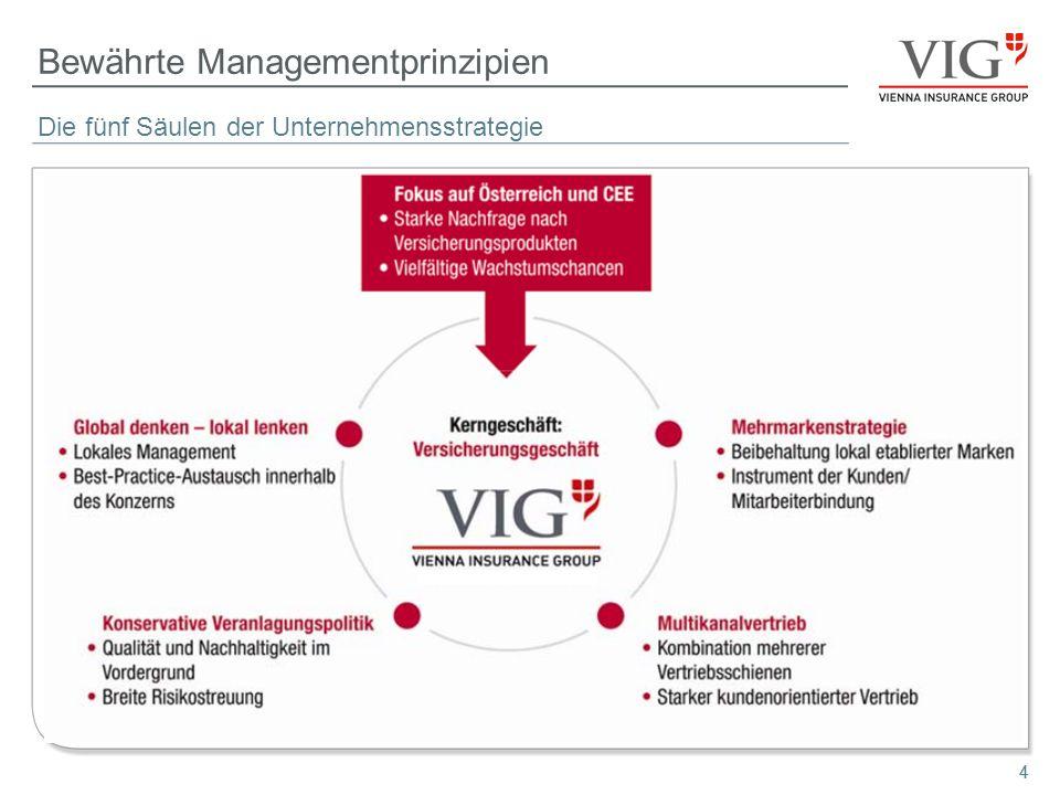 44 Bewährte Managementprinzipien Die fünf Säulen der Unternehmensstrategie