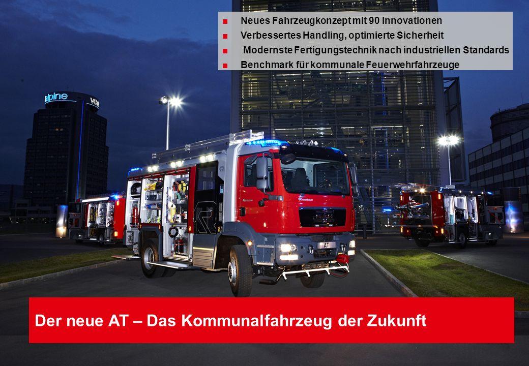 Folie 10 Der neue AT – Das Kommunalfahrzeug der Zukunft Neues Fahrzeugkonzept mit 90 Innovationen Verbessertes Handling, optimierte Sicherheit Moderns