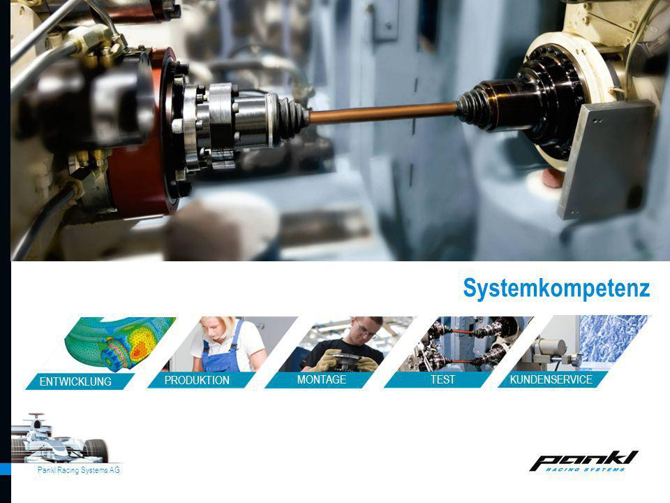 Pankl Racing Systems AG Systemkompetenz allgemein ENTWICKLUNG MONTAGE TEST PRODUKTION KUNDENSERVICE Systemkompetenz