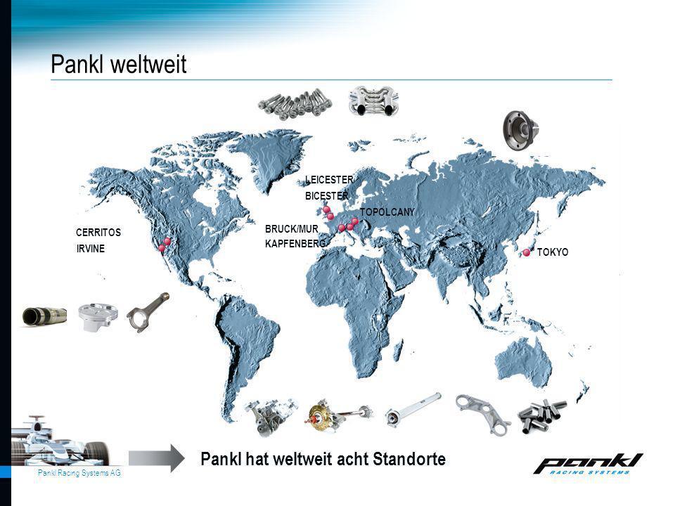 Pankl Racing Systems AG KAPFENBERG Pankl hat weltweit acht Standorte Pankl weltweit CERRITOS IRVINE LEICESTER BICESTER TOPOLCANY BRUCK/MUR TOKYO