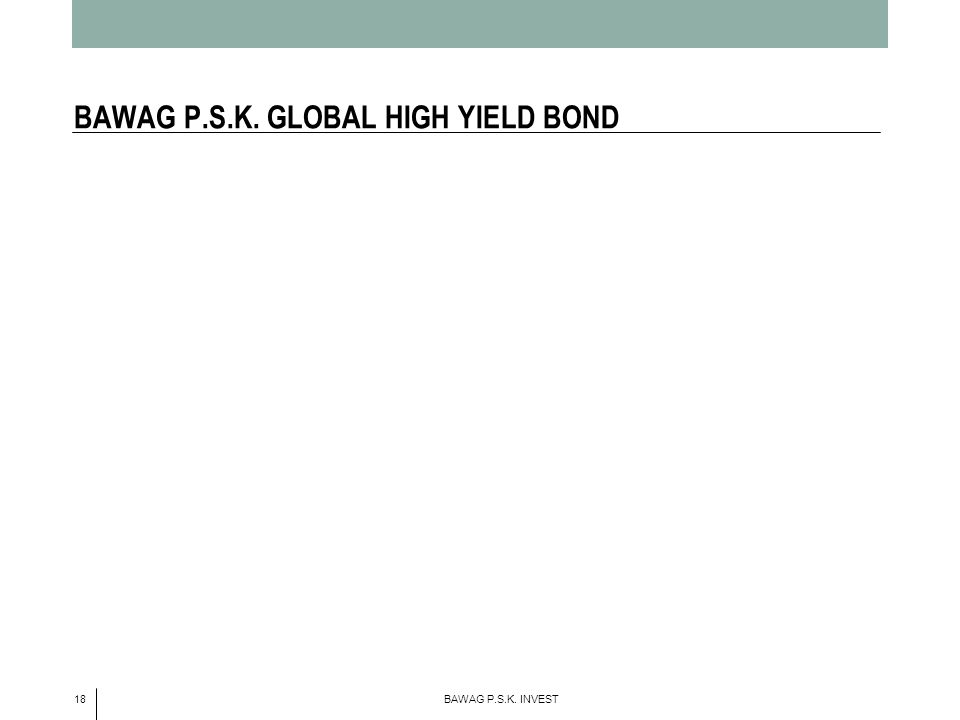 18 BAWAG P.S.K. INVEST BAWAG P.S.K. GLOBAL HIGH YIELD BOND
