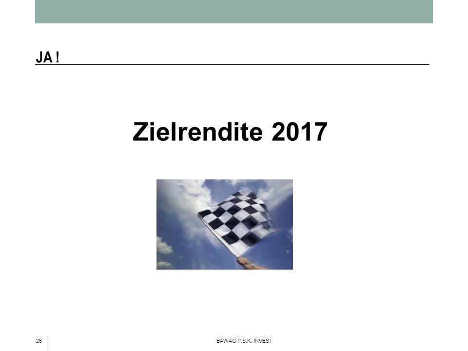 26 BAWAG P.S.K. INVEST Zielrendite 2017 JA !
