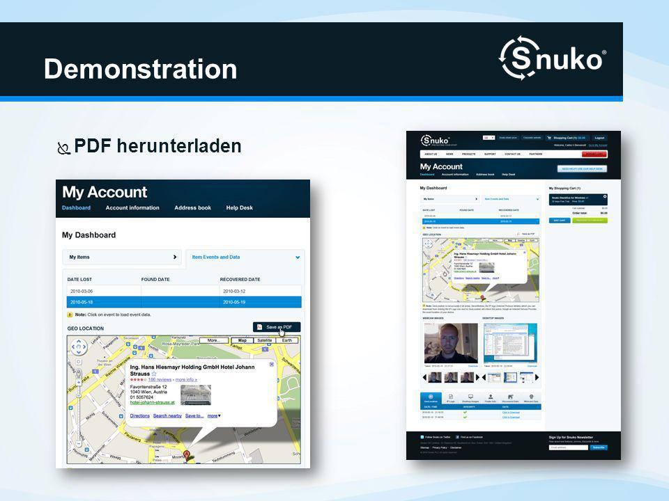 Demonstration PDF herunterladen