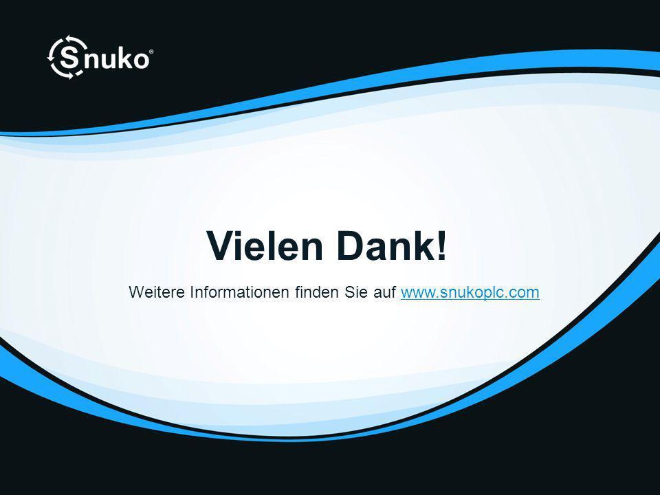 Vielen Dank! Weitere Informationen finden Sie auf www.snukoplc.comwww.snukoplc.com