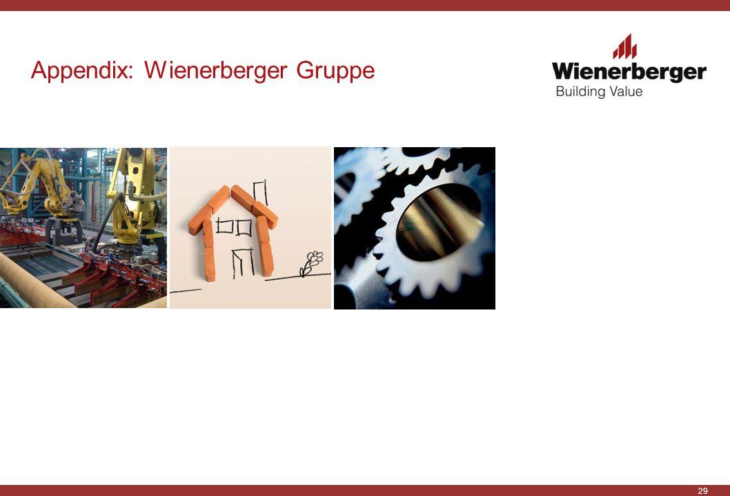 29 Appendix: Wienerberger Gruppe