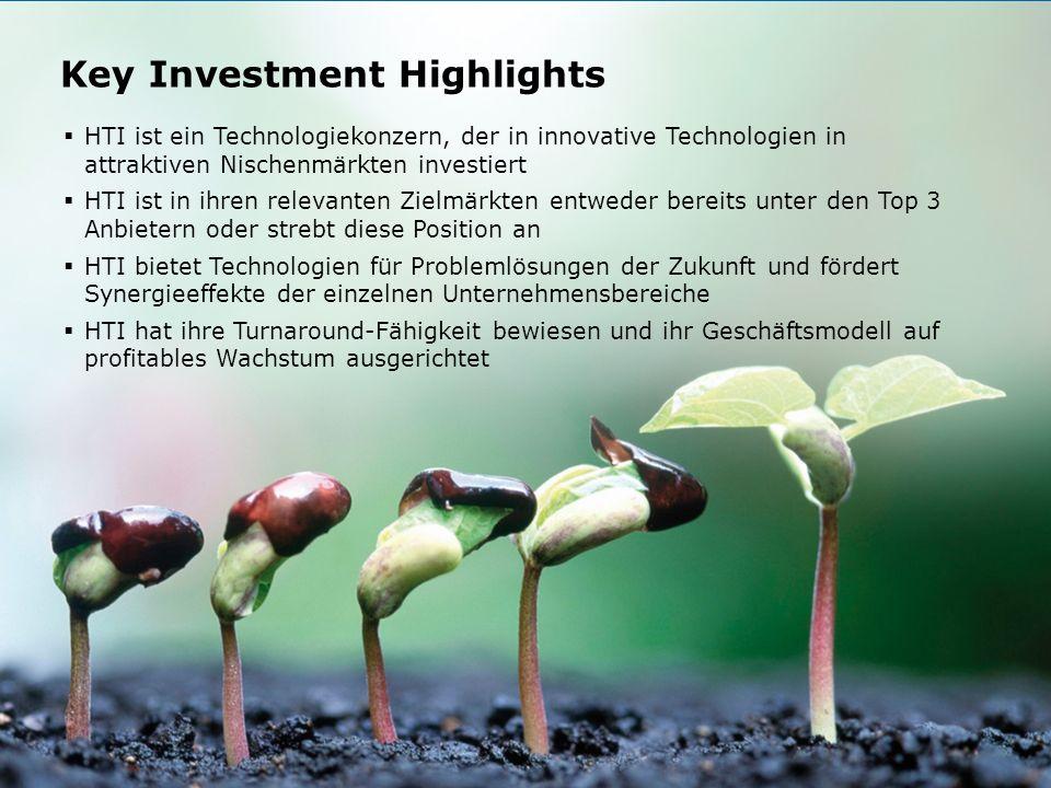 HTI High Tech Industries AG Börse Express Roadshow Graz, 9. November 2011 16 Key Investment Highlights HTI ist ein Technologiekonzern, der in innovati