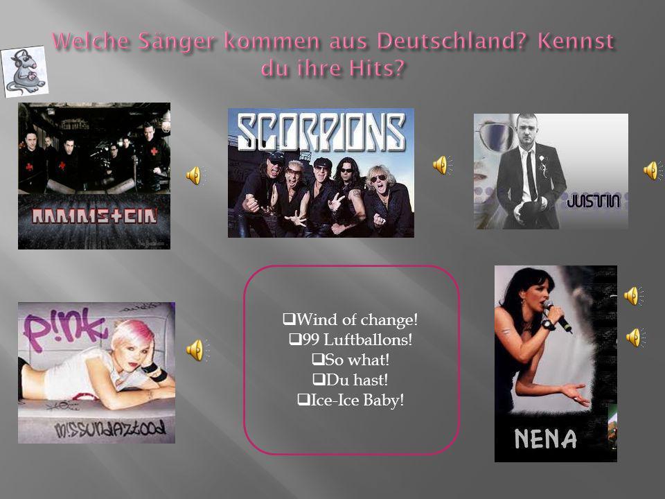 Sie sind eine deutsche Gruppe.Sie ist jung und hat viel Energie.