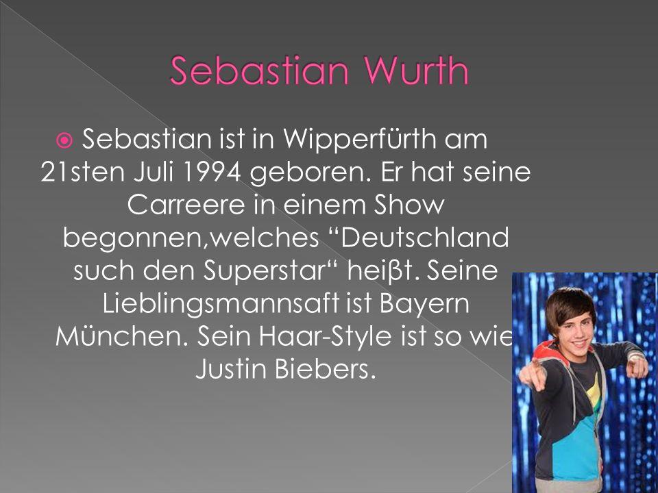 Sebastian ist in Wipperfürth am 21sten Juli 1994 geboren. Er hat seine Carreere in einem Show begonnen,welches Deutschland such den Superstar heiβt. S