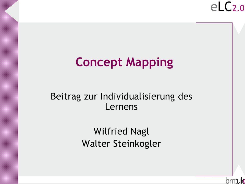Concept Mapping Beitrag zur Individualisierung des Lernens Wilfried Nagl Walter Steinkogler