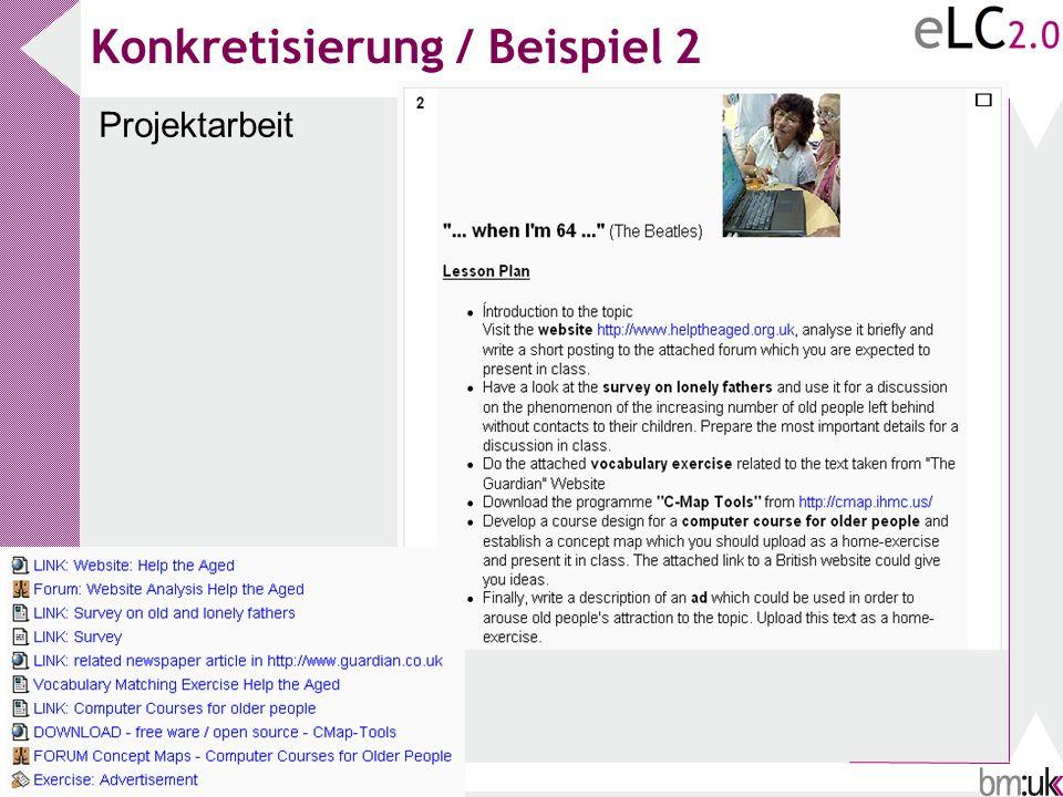 Konkretisierung / Beispiel 2 Projektarbeit