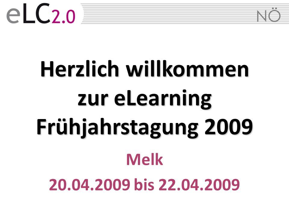 NÖ Herzlich willkommen zur eLearning Frühjahrstagung 2009 Melk 20.04.2009 bis 22.04.2009