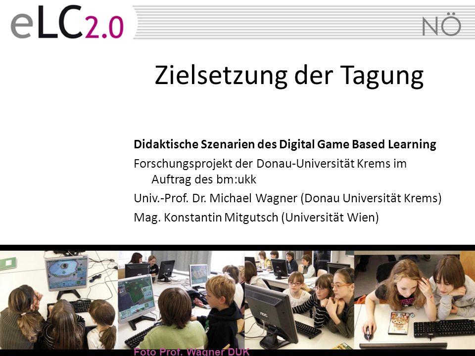 NÖ Didaktische Szenarien des Digital Game Based Learning Forschungsprojekt der Donau-Universität Krems im Auftrag des bm:ukk Univ.-Prof. Dr. Michael W
