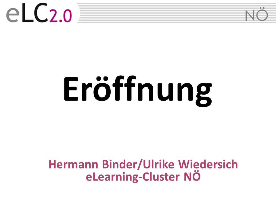 NÖ Eröffnung Hermann Binder/Ulrike Wiedersich eLearning-Cluster NÖ