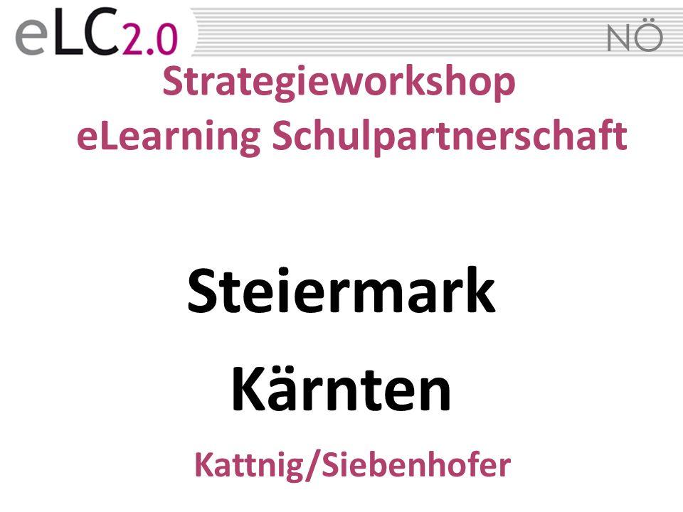 NÖ Strategieworkshop eLearning Schulpartnerschaft Steiermark Kärnten Kattnig/Siebenhofer