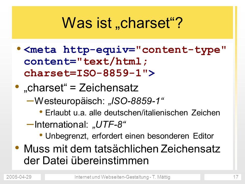 2005-04-29Internet und Webseiten-Gestaltung - T.