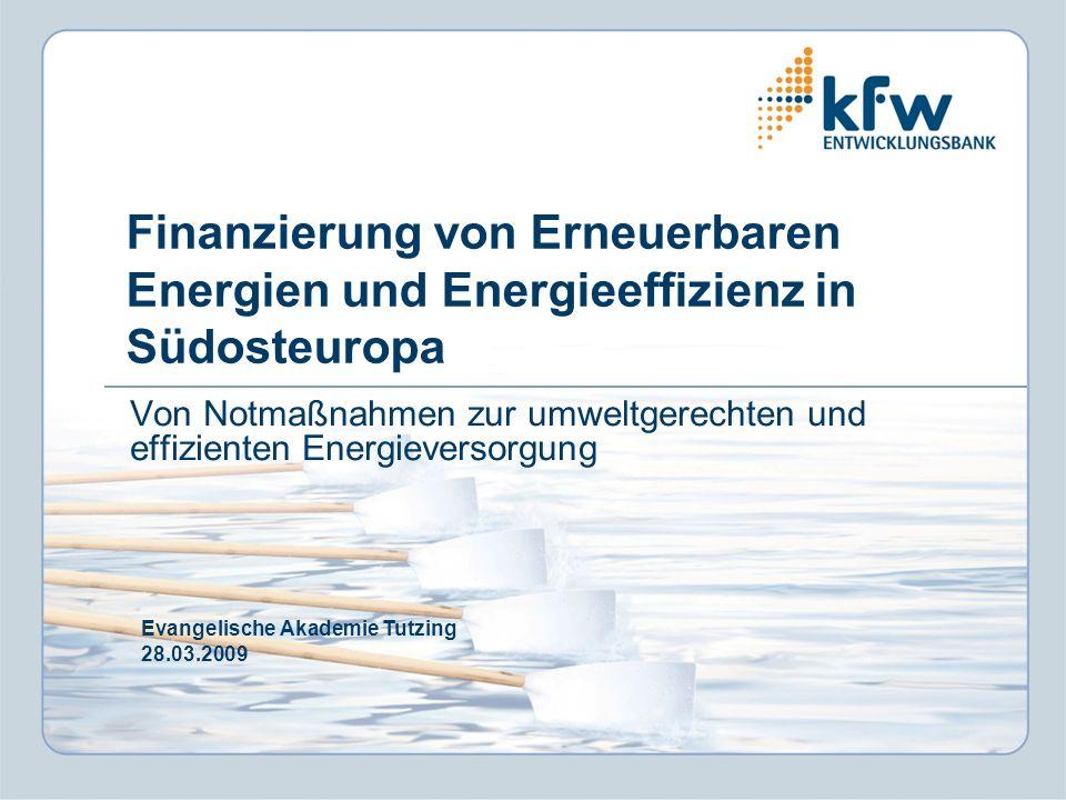 2 Inhalt I. Die KfW im Überblick II. Rahmenbedingungen III. Projektbeispiele
