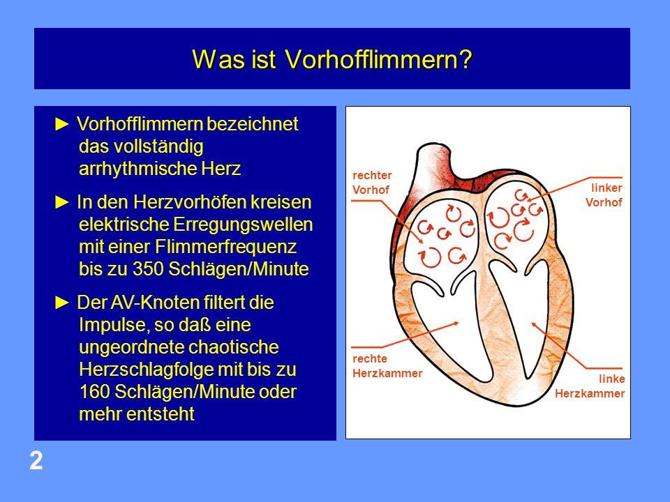 Herzzentrum Osnabrück-Bad Rothenfelde 3 Vorhofflimmern: Ziele der Behandlung linker Vorhof Gerinnsel im Vorhof Schlaganfall verhindern: 30.000 Schlaganfälle gehen in Deutschland auf Vorhofflimmern zurück Beseitigung bzw.