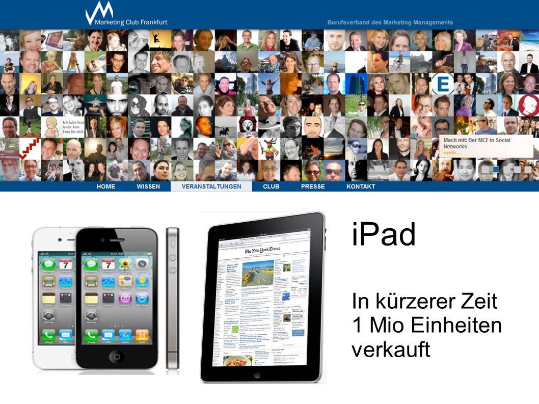iPad In kürzerer Zeit 1 Mio Einheiten verkauft