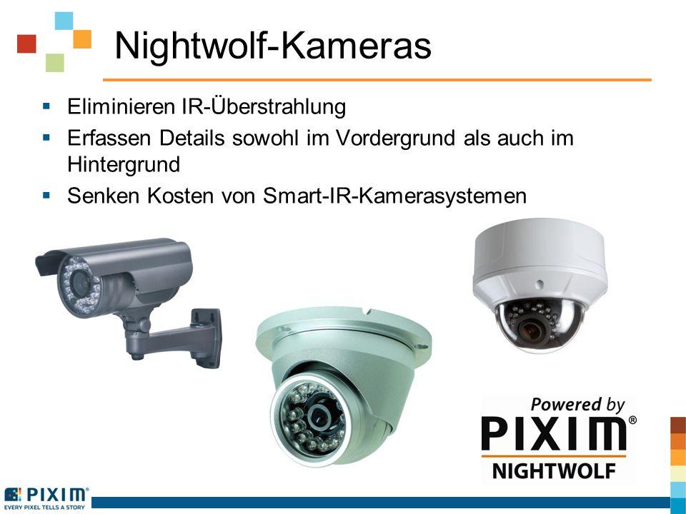 Nightwolf-Kameras Eliminieren IR-Überstrahlung Erfassen Details sowohl im Vordergrund als auch im Hintergrund Senken Kosten von Smart-IR-Kamerasystemen