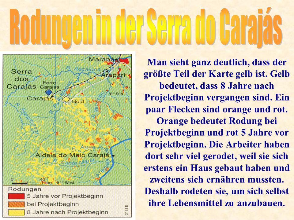 Man sieht ganz deutlich, dass der größte Teil der Karte gelb ist.
