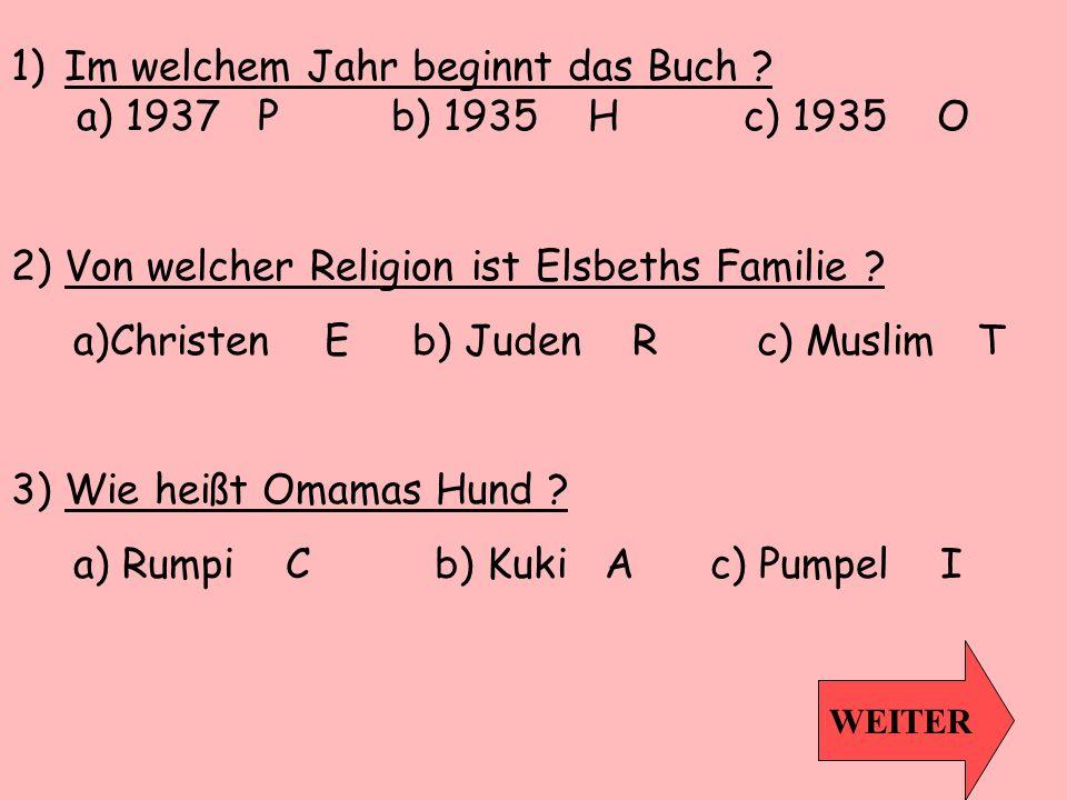 4) Über was handelt das Drebuch das Annas Vater geschrieben hat.