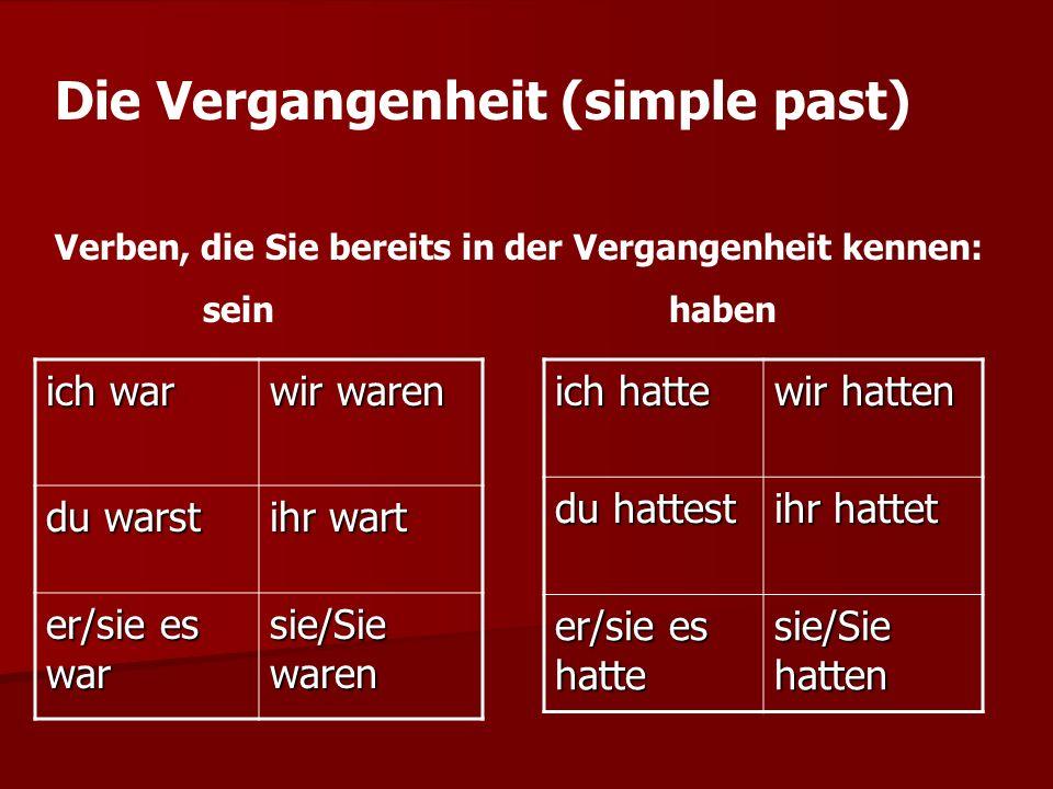 sein follows an irregular (strong) simple past ending pattern, while haben follows a regular (weak) ending pattern.