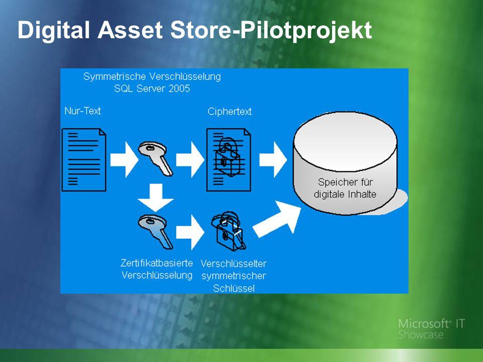 Digital Asset Store-Pilotprojekt