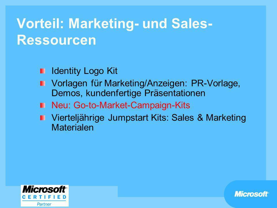 Vorteil: Marketing- und Sales- Ressourcen Identity Logo Kit Vorlagen für Marketing/Anzeigen: PR-Vorlage, Demos, kundenfertige Präsentationen Neu: Go-t