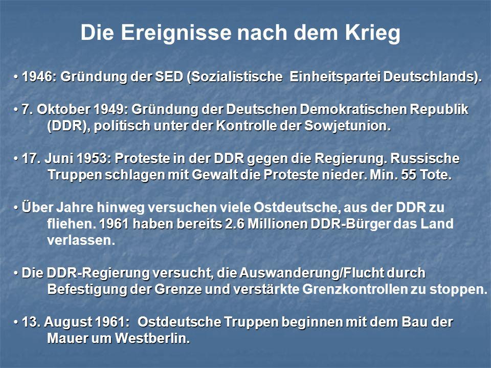 1946: Gründung der SED (Sozialistische Einheitspartei Deutschlands). 1946: Gründung der SED (Sozialistische Einheitspartei Deutschlands). 7. Oktober 1