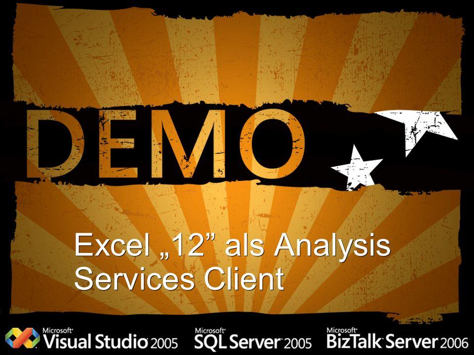 Excel 12 als Analysis Services Client