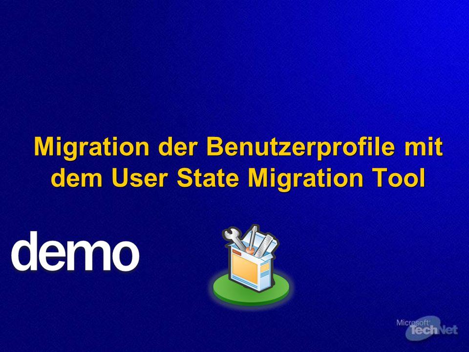 Migration der Benutzerprofile mit dem User State Migration Tool