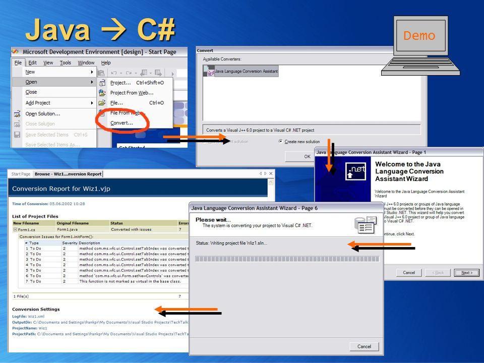 Java C# Demo