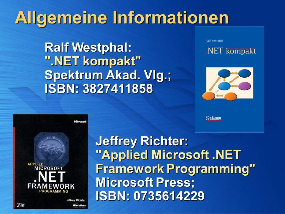Allgemeine Informationen Jeffrey Richter: