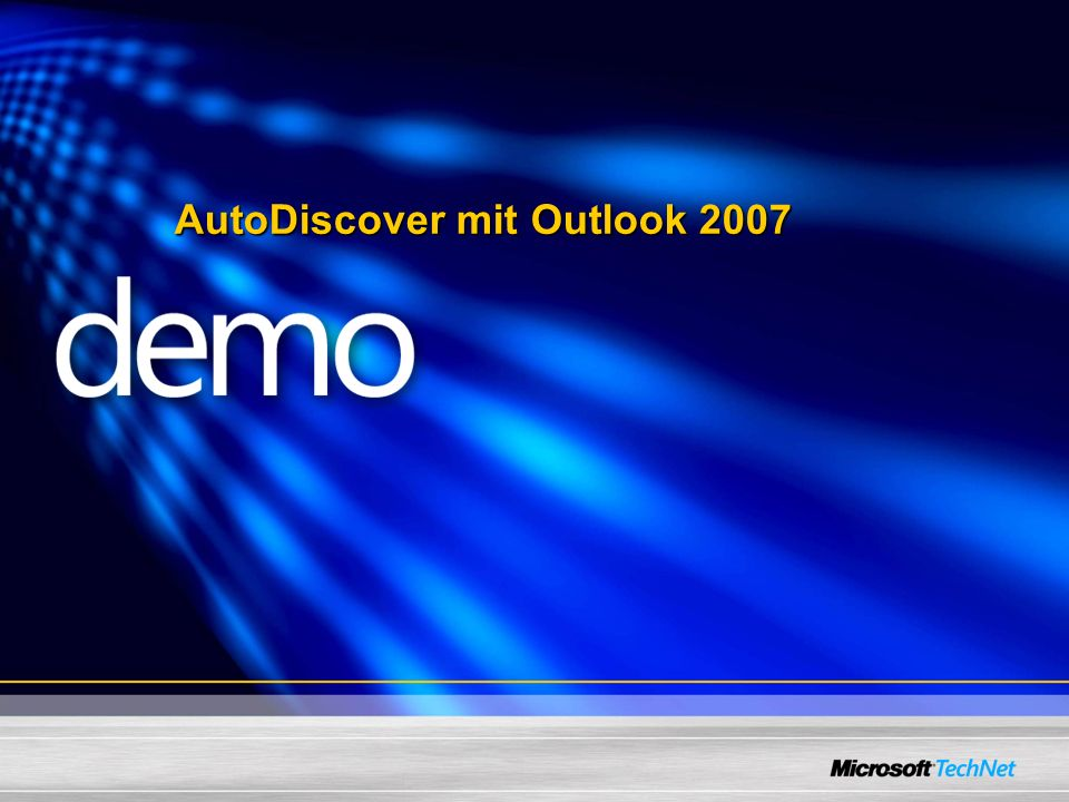 AutoDiscover mit Outlook 2007