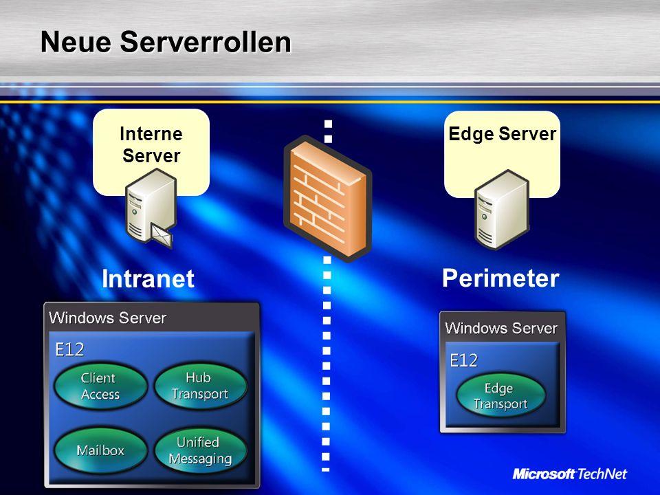 Neue Serverrollen Perimeter Edge Server Intranet Interne Server