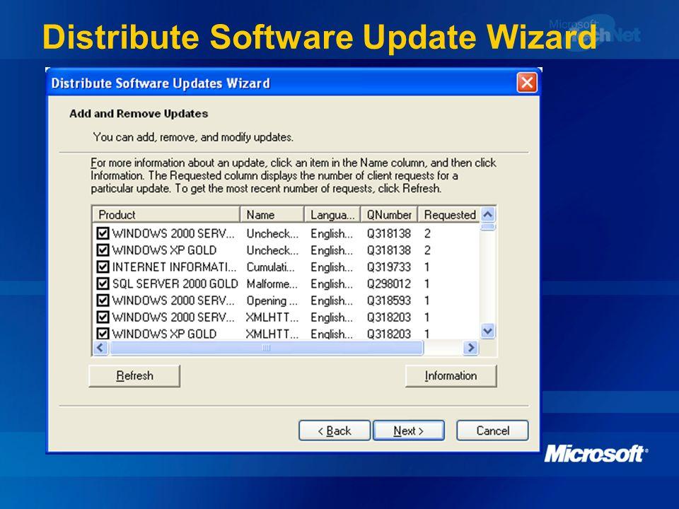 Distribute Software Update Wizard